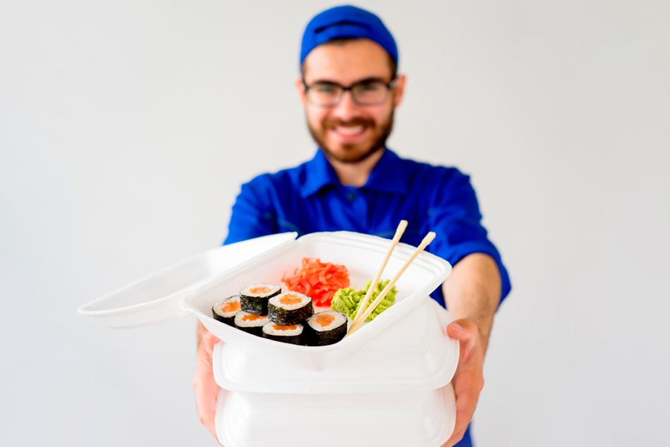 Доставка нежных суши в офис и на дом курьером