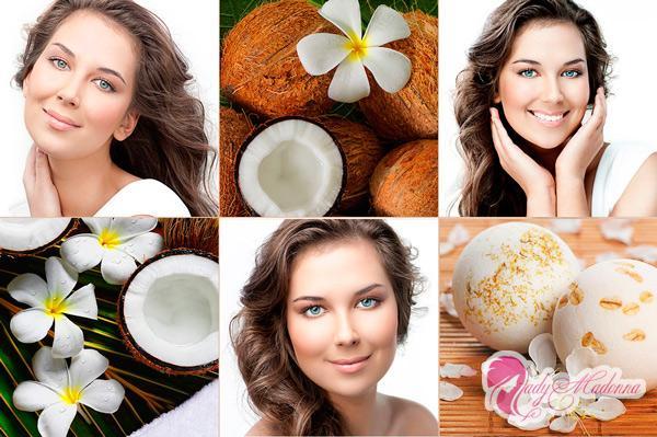 кокосове масло на волоссі