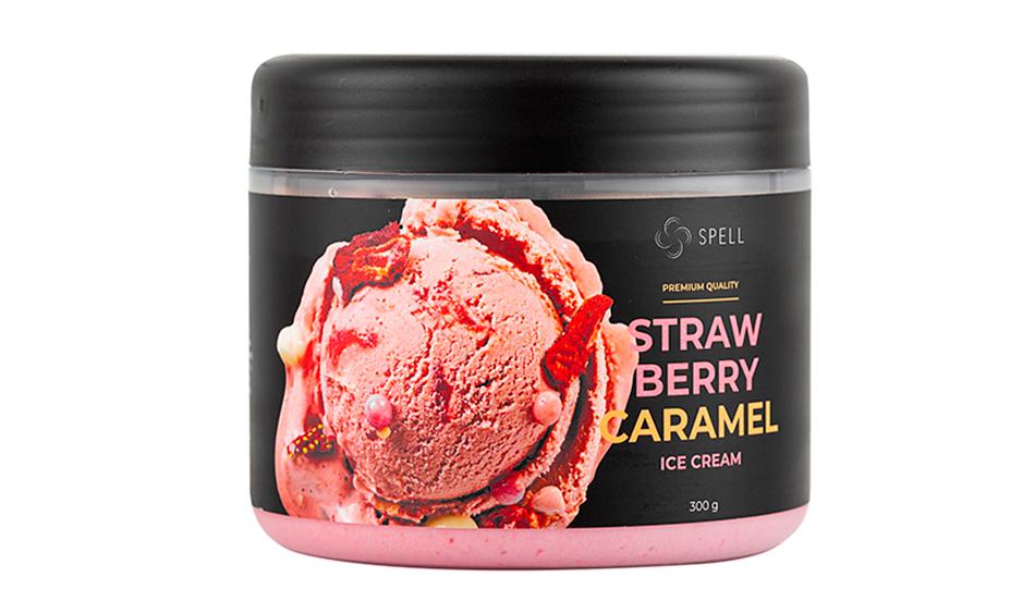 Полуничне крафтове морозиво (товар та фото магазину https://spellchocolate.com/)