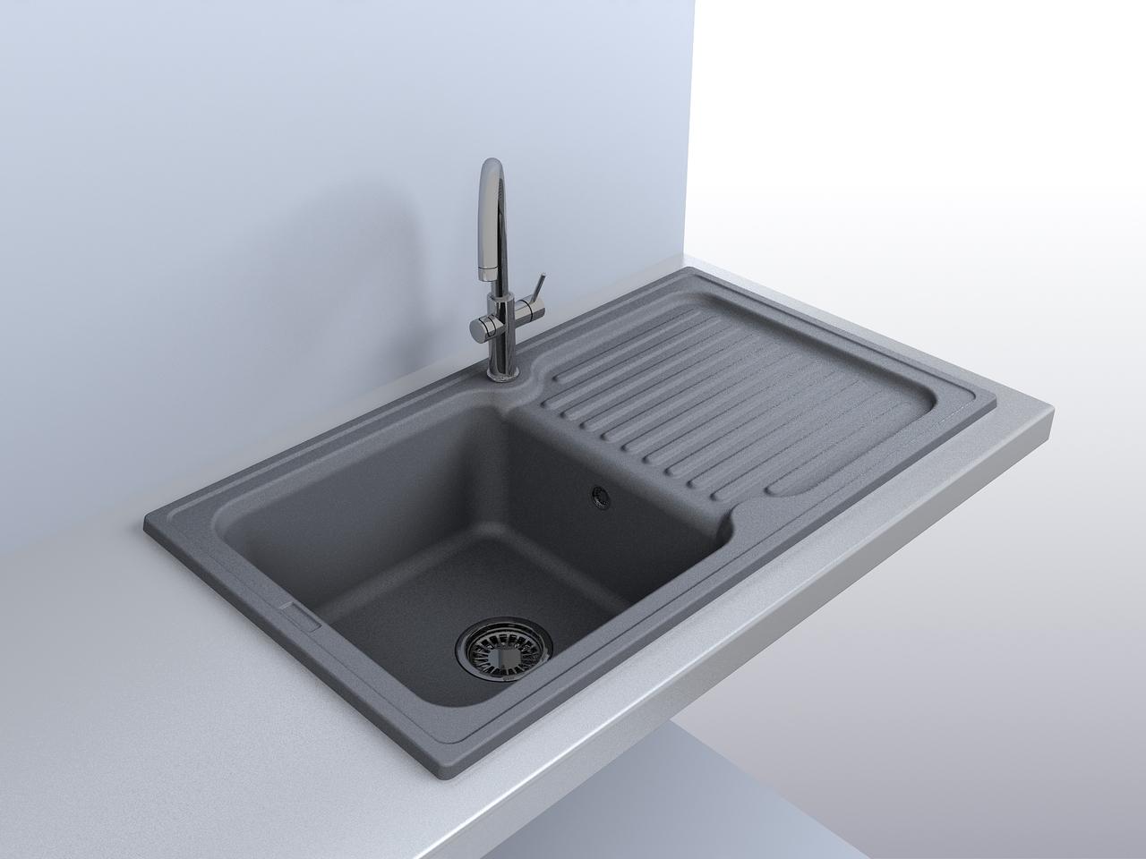 Якісна, сучасна кухонна мийка (товар та фото магазину «Лео Кераміка»)