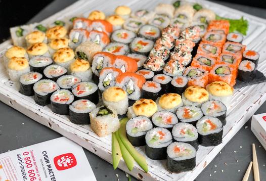 Очень вкусные суши от мастеров «Sushi-Master»