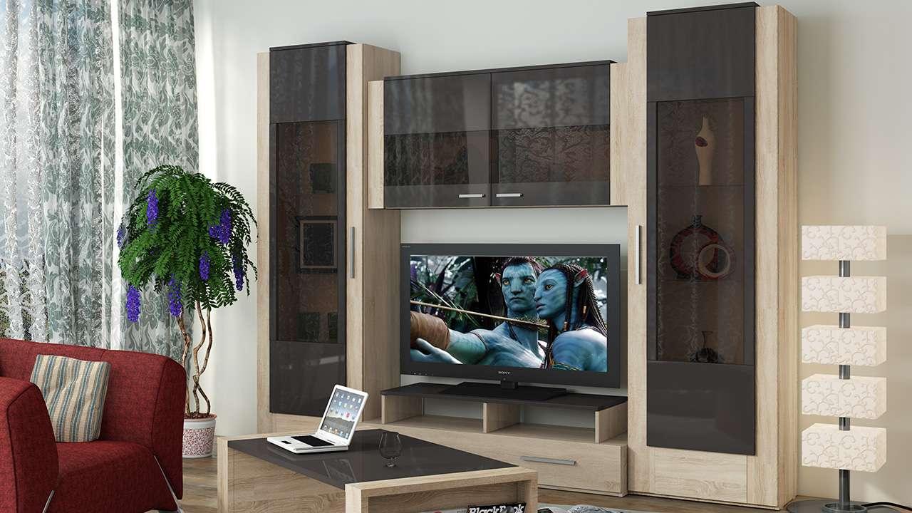 Современная гостиная с модульной мебелью