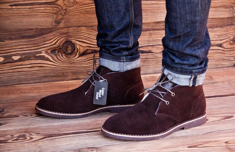 Зимние ботинки на ногах