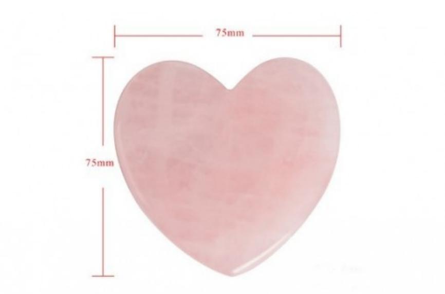Скребок гуаша из розового кварца FIRINI