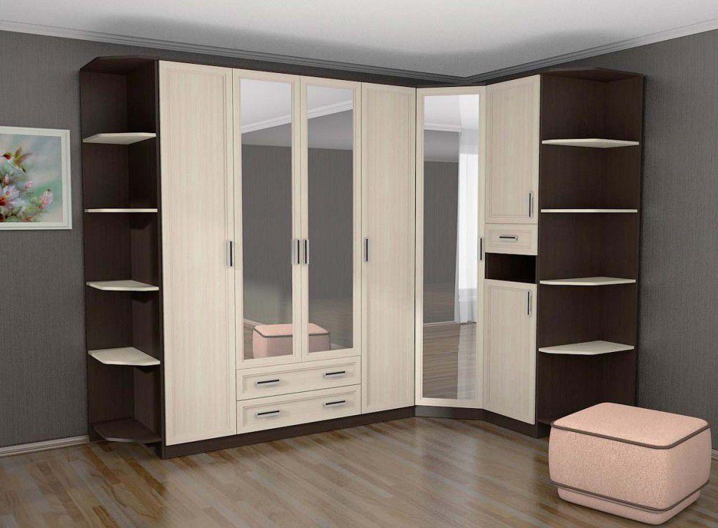 Угловой шкаф в комнате (спальня)